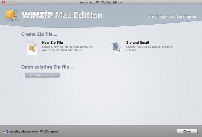 WinZip mac 2017