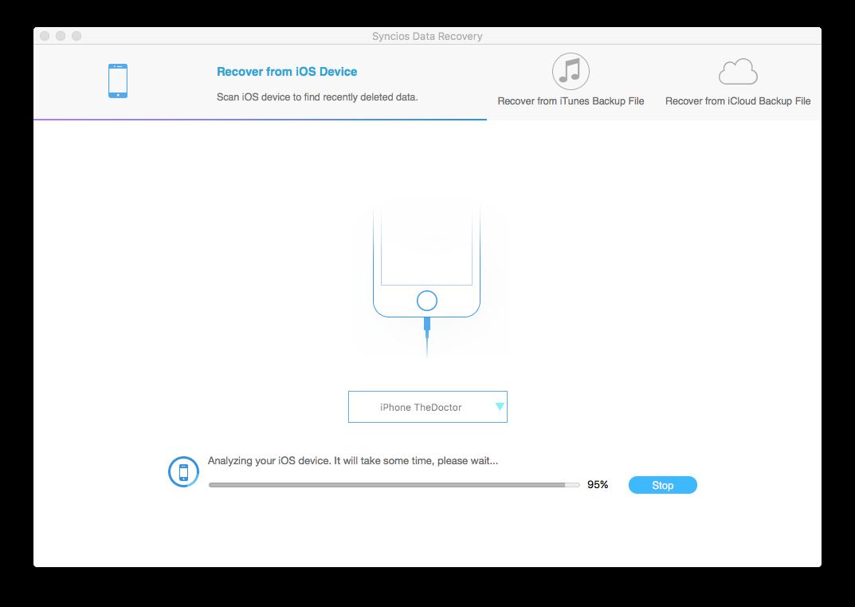 Syncios Data Recovery mac