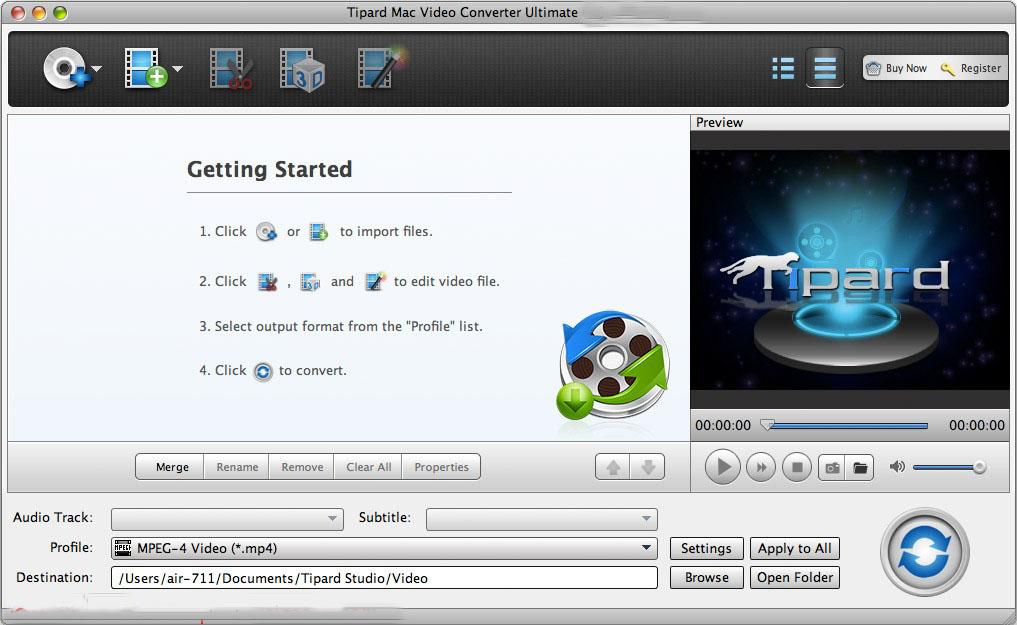 Tipard Mac Video Converter Ultimate mac