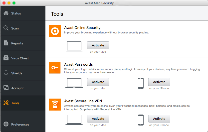 Avast Mac Security mac