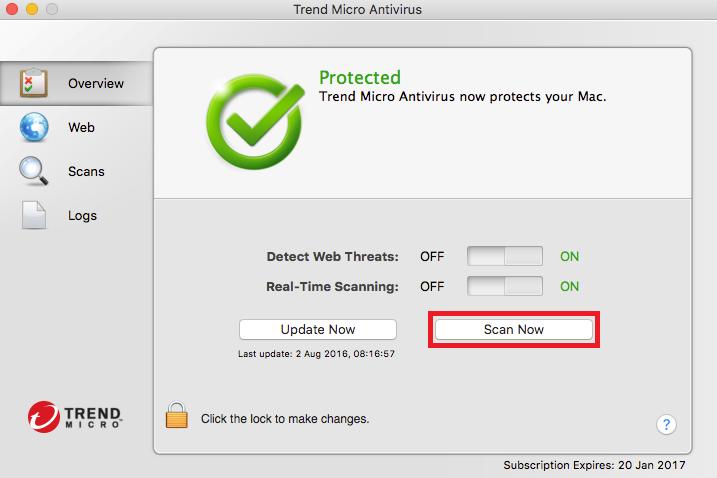 trend micro antivirus mac