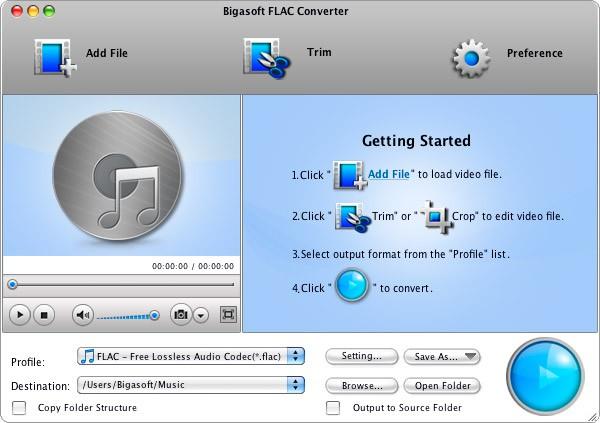 Bigasoft FLAC Converter mac