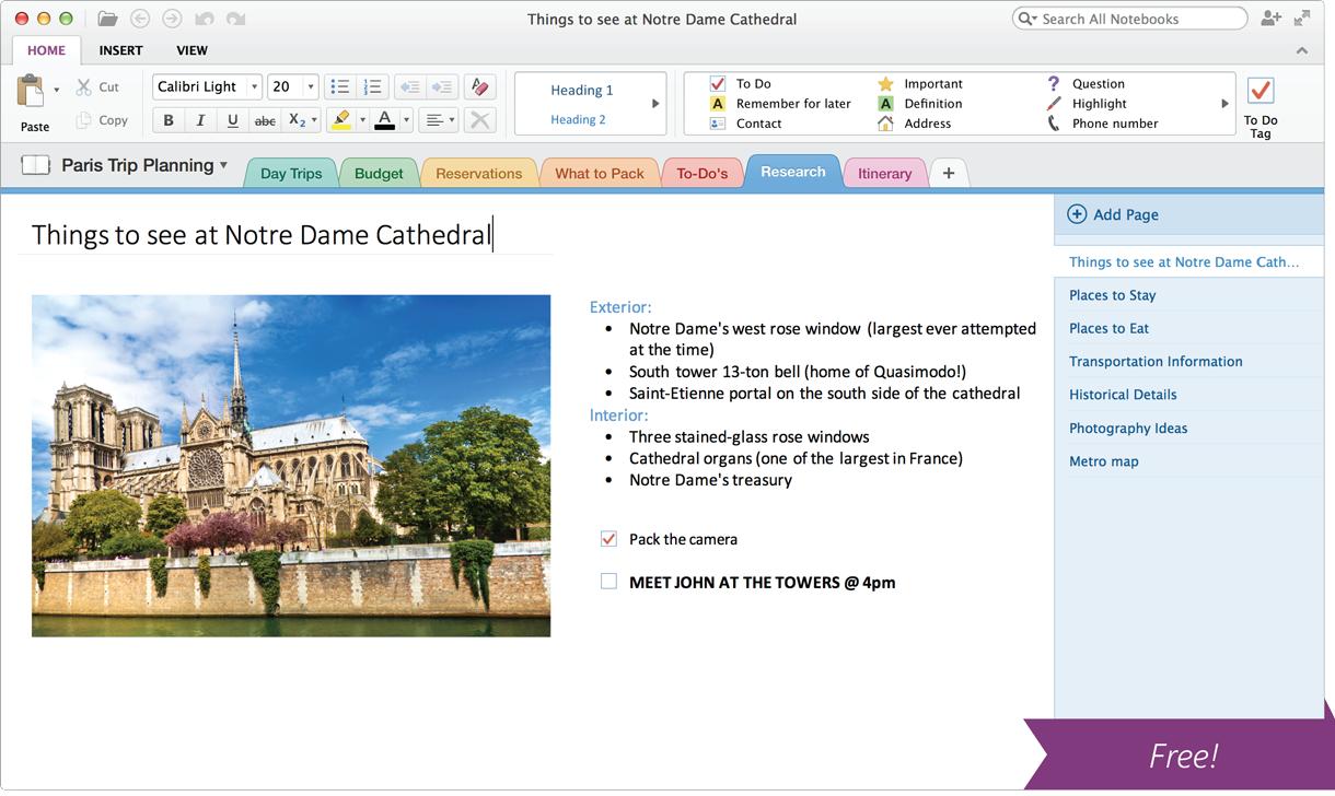 Microsoft OneNote mac