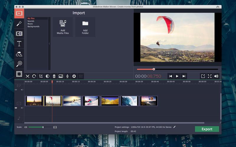Movavi Slideshow Maker mac