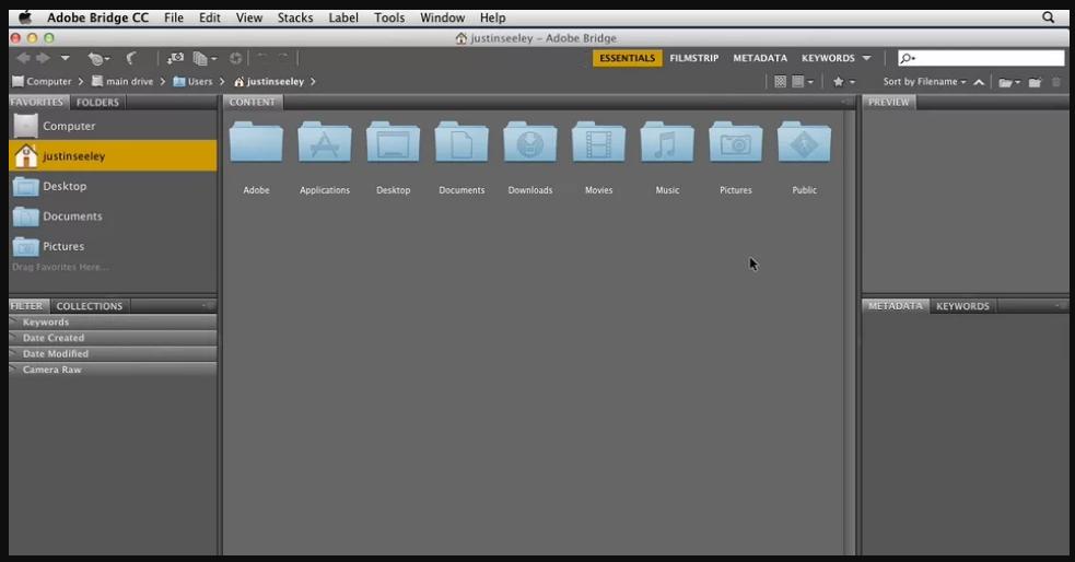 Adobe Bridge CC mac