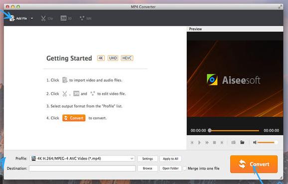Aiseesoft MP4 Converter mac