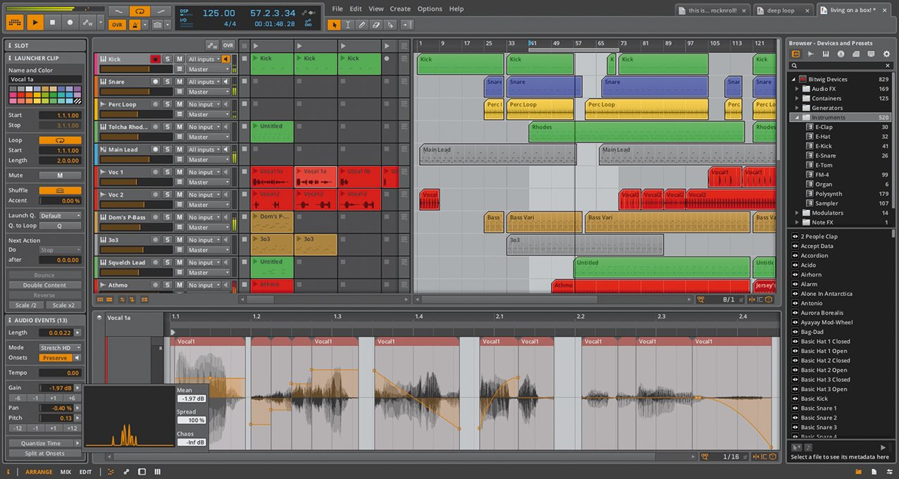 Bitwig Studio mac
