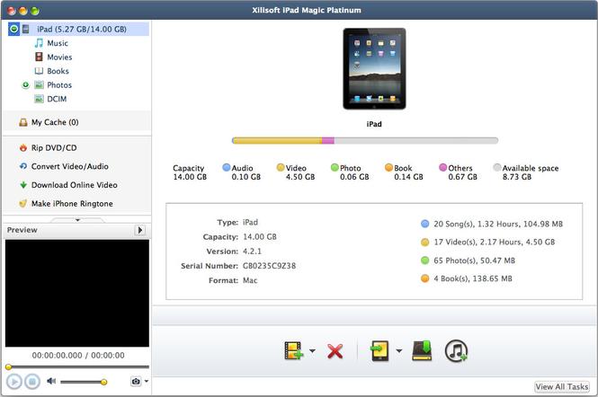 Xilisoft iPad Magic Platinum mac
