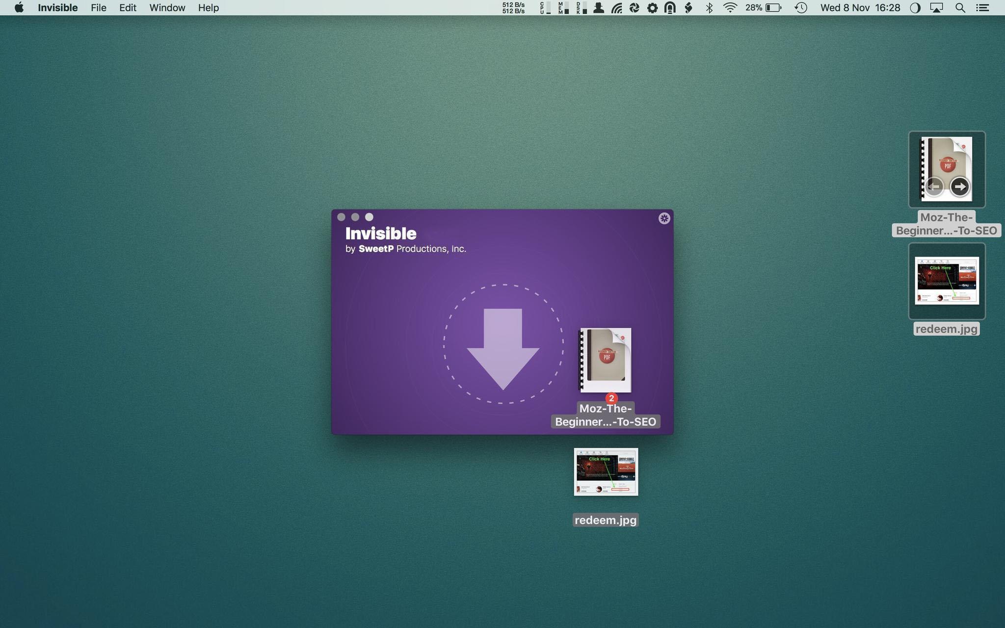 Invisible mac
