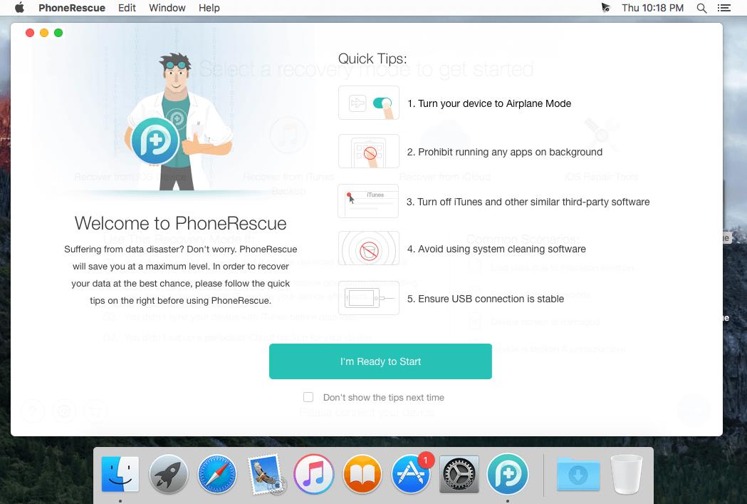 PhoneRescue for iOS mac