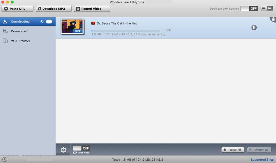 Wondershare AllMyTube mac