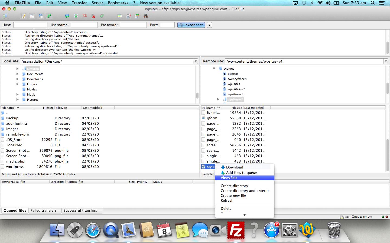 FileZilla mac