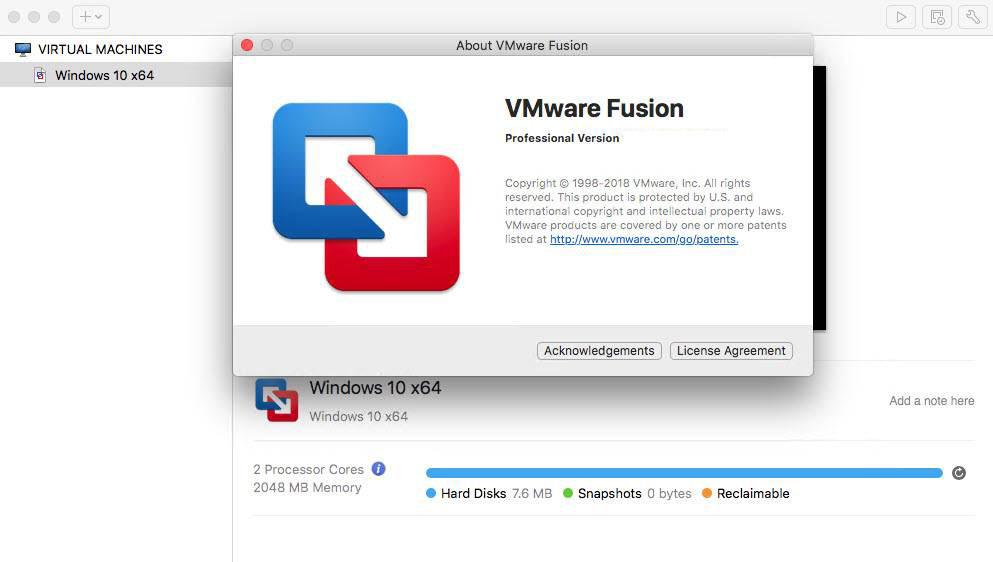 VMware Fusion PRO for mac