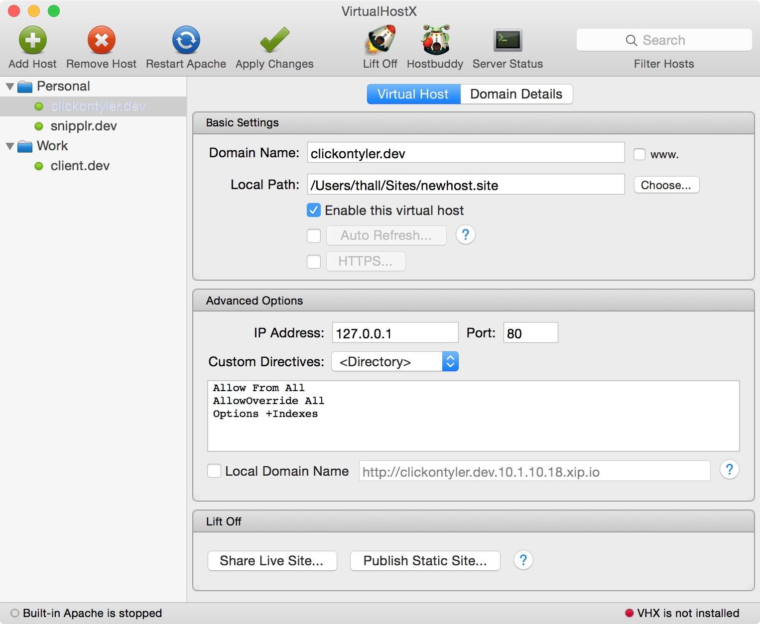 VirtualHostX mac
