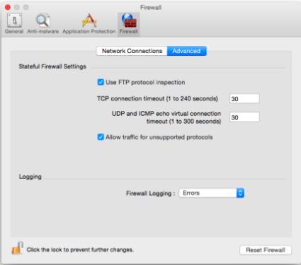 McAfee Firewall mac