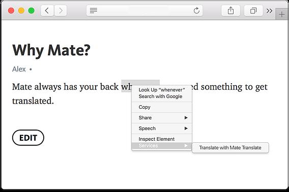 Mate Translate for Mac