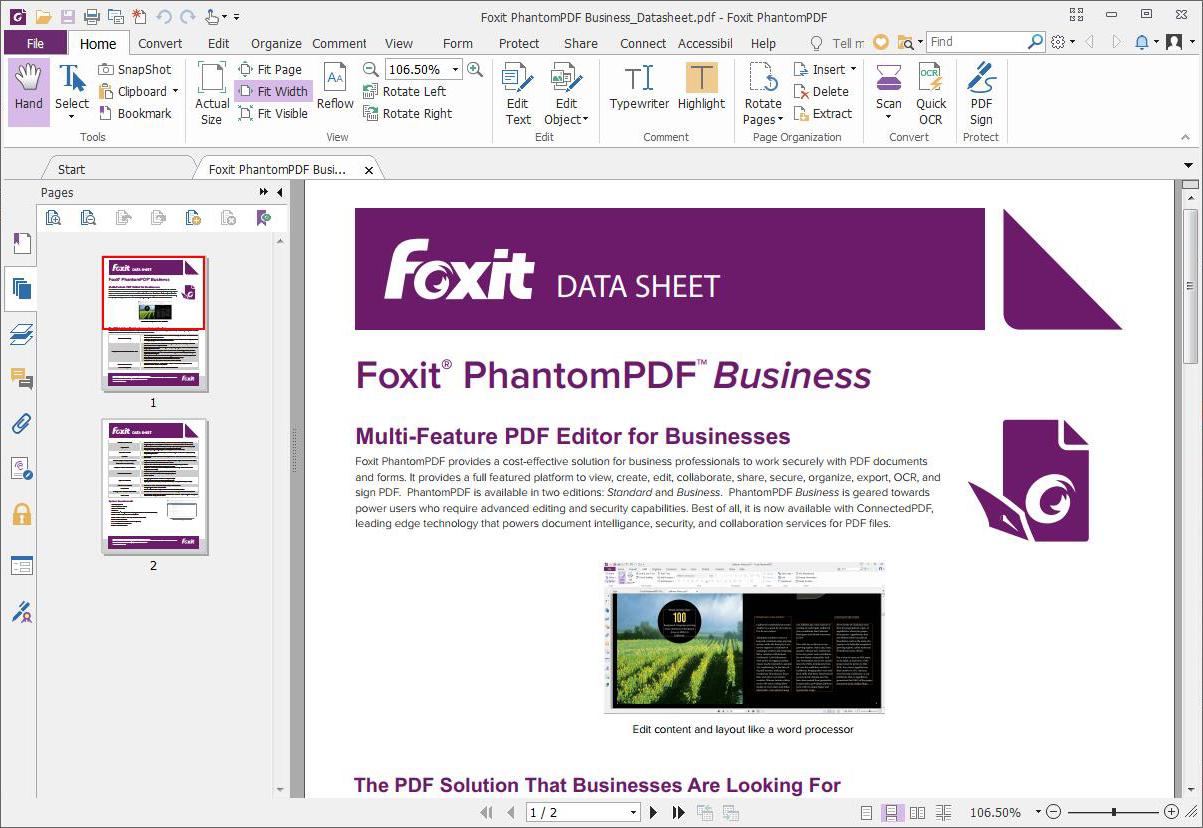Foxit PhantomPDF Mac